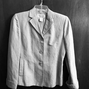 Petite Sophisticate blazer 55% linen 45% rayon